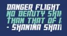 Danger Flight Italic