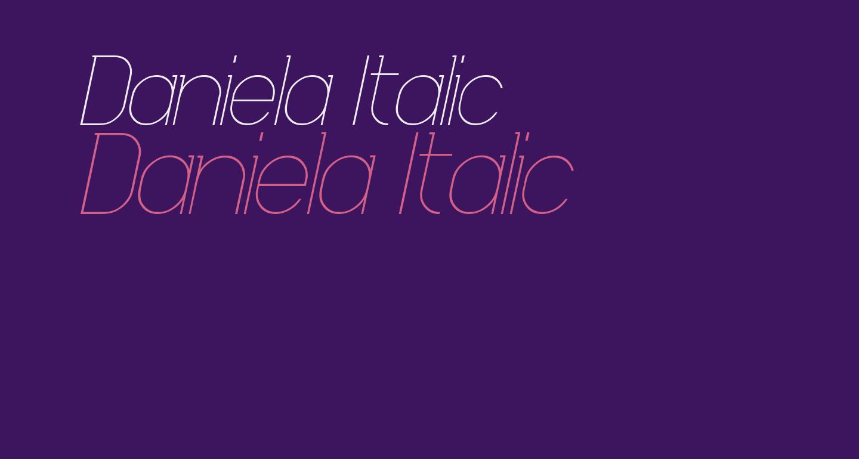 Daniela Italic