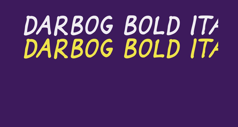 Darbog Bold Italic
