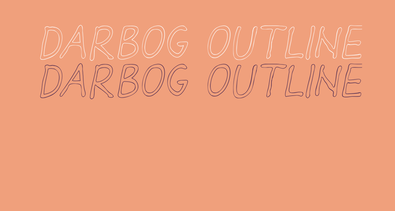 Darbog outline Italic