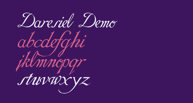Daresiel Demo