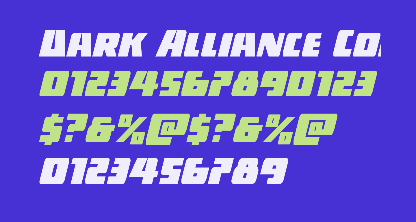 Dark Alliance Condensed Italic