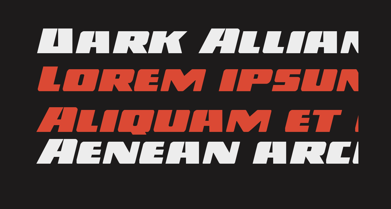 Dark Alliance Expanded Italic
