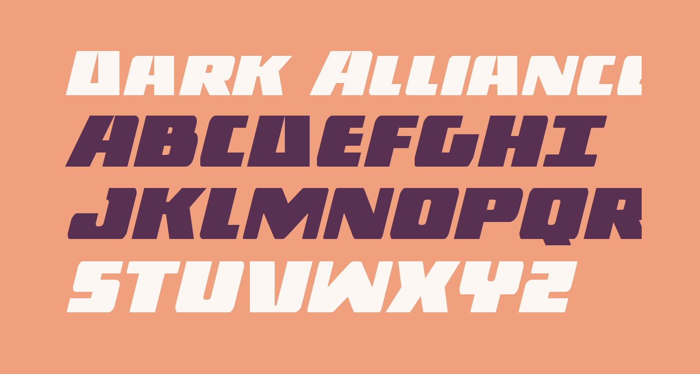 Dark Alliance Italic