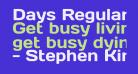Days Regular