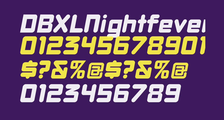 DBXLNightfever WideItalic