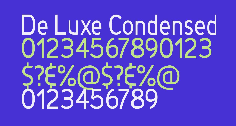 De Luxe Condensed