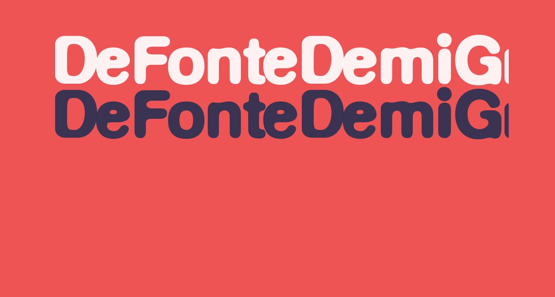 DeFonteDemiGras