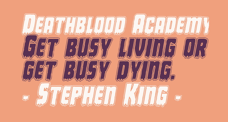 Deathblood Academy Italic