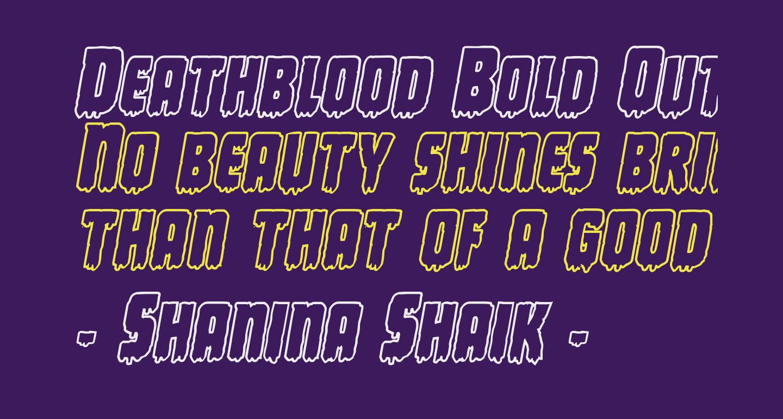 Deathblood Bold Outline Italic