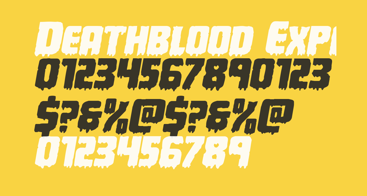 Deathblood Expanded Italic