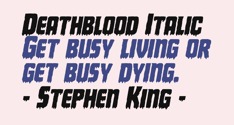 Deathblood Italic