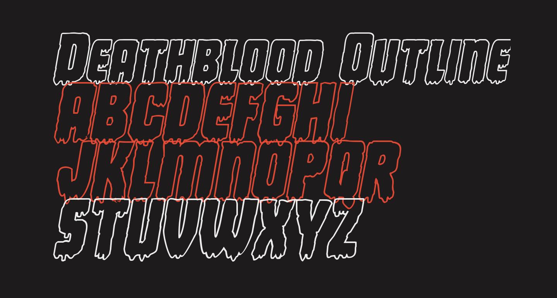 Deathblood Outline Italic