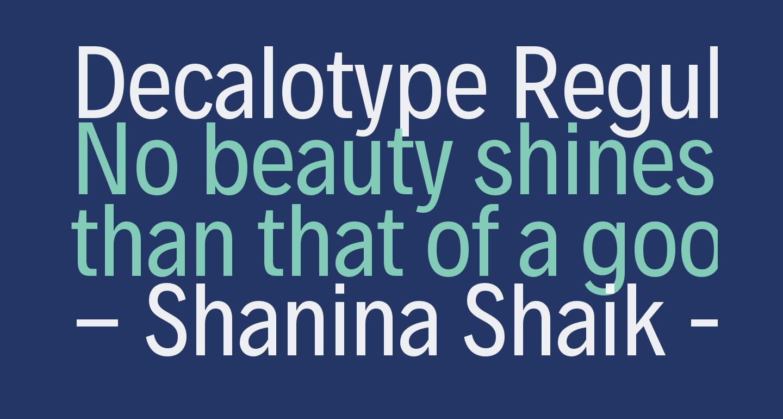 Decalotype Regular