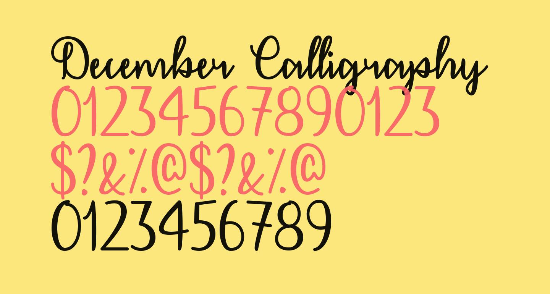 December Calligraphy