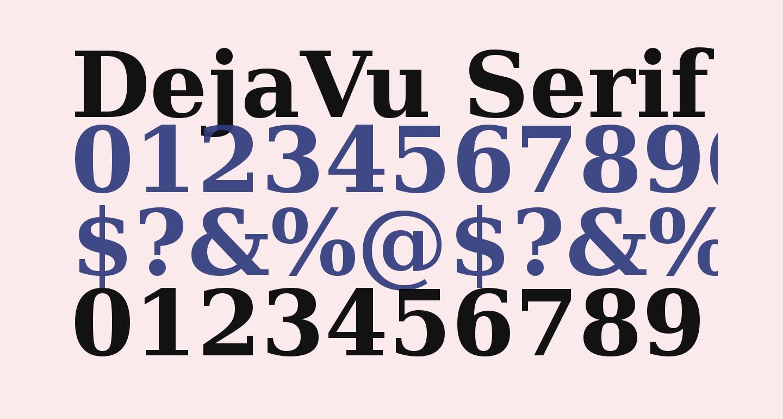 DejaVu Serif Bold