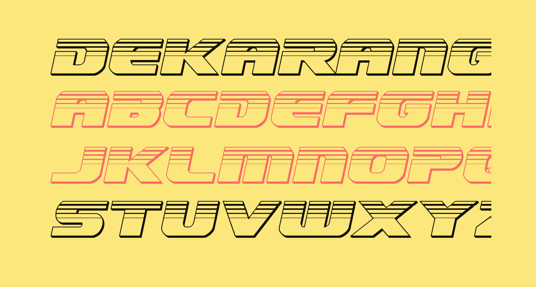 Dekaranger Chrome Italic