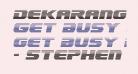 Dekaranger Gradient Italic