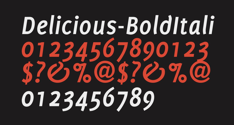 Delicious-BoldItalic