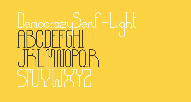 DemocrazySerif-Light