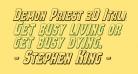 Demon Priest 3D Italic