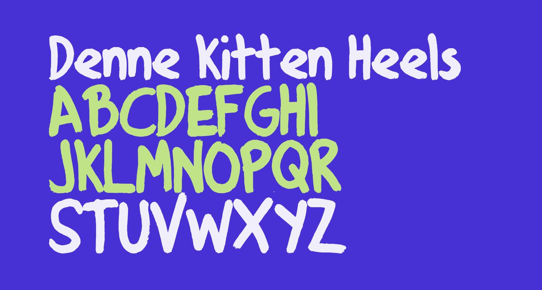 Denne Kitten Heels