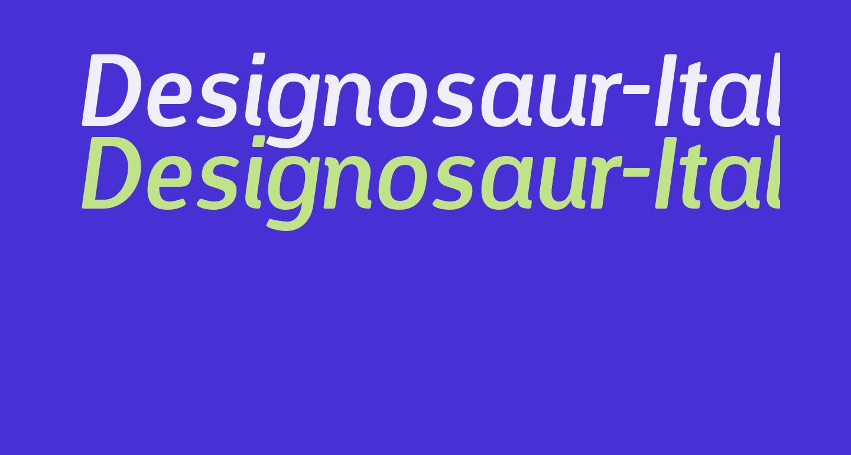 Designosaur-Italic