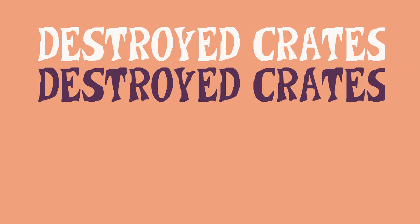 Destroyed Crates