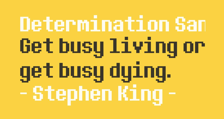 Determination Sans Web Regular