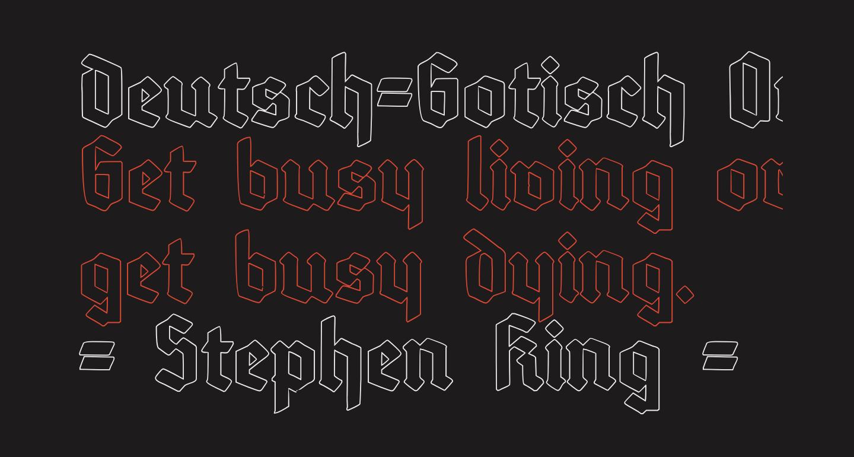 Deutsch-Gotisch Outline