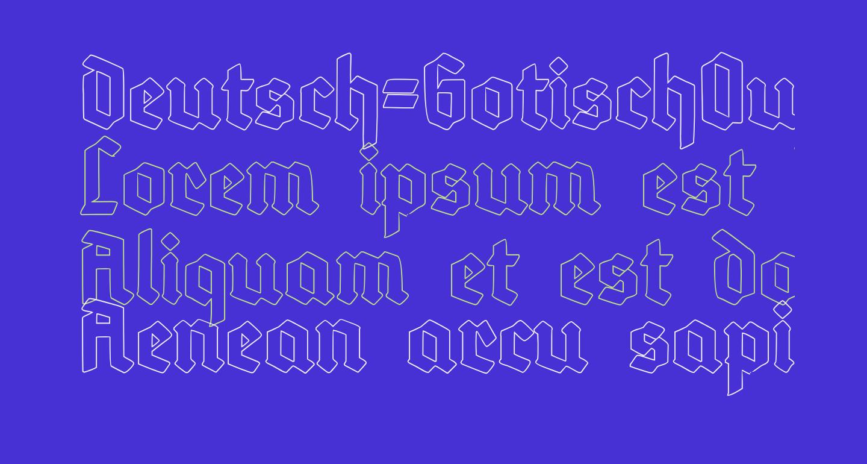 Deutsch-GotischOutline