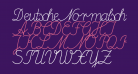 DeutscheNormalschrift-Italic
