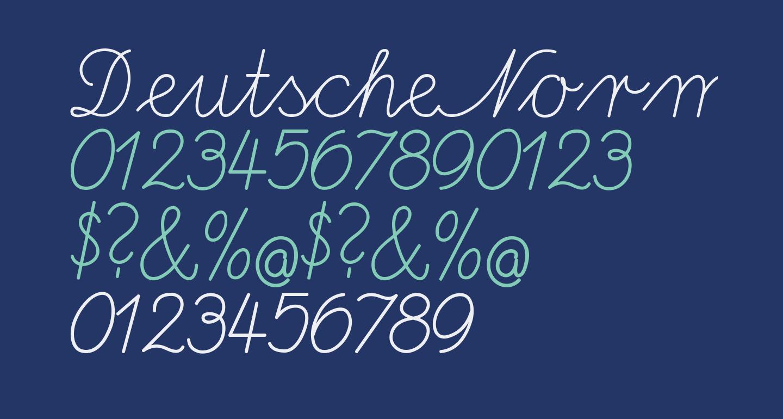 DeutscheNormalschrift