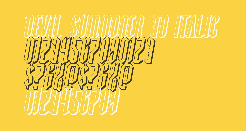 Devil Summoner 3D Italic