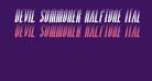 Devil Summoner Halftone Italic