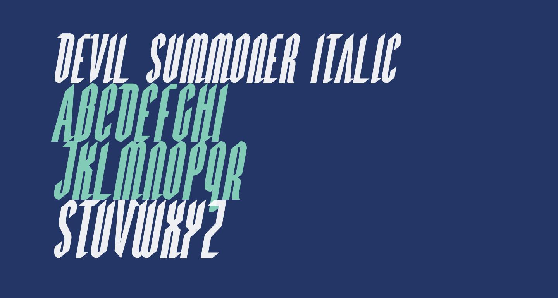 Devil Summoner Italic
