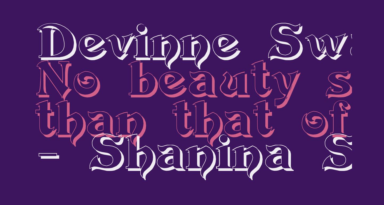 Devinne Swash Shadow