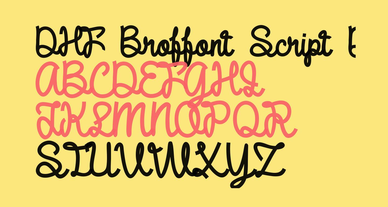 DHF Broffont Script Demo