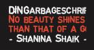 DINGarbageschrift Bold