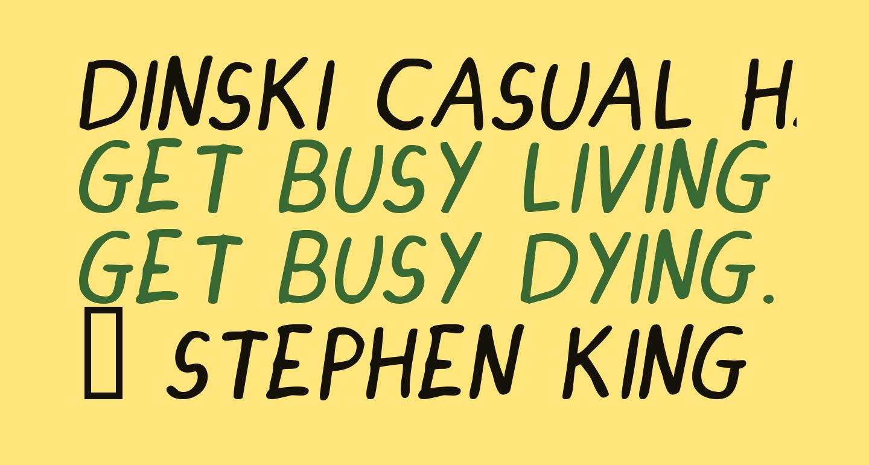 DINSKI CASUAL HANDWRITING Italic