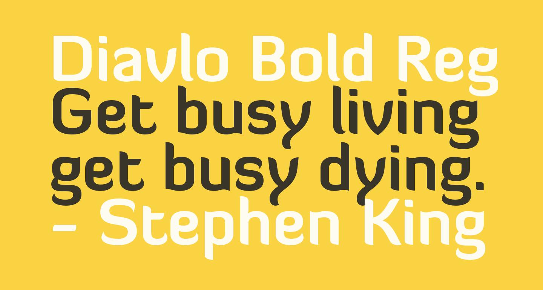 Diavlo Bold Regular