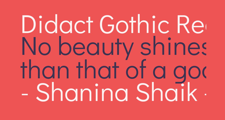 Didact Gothic Regular