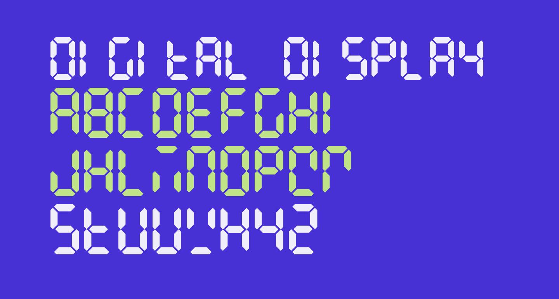 Digital Display Regular