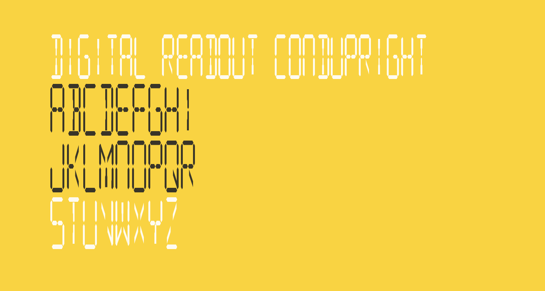 Digital Readout CondUpright