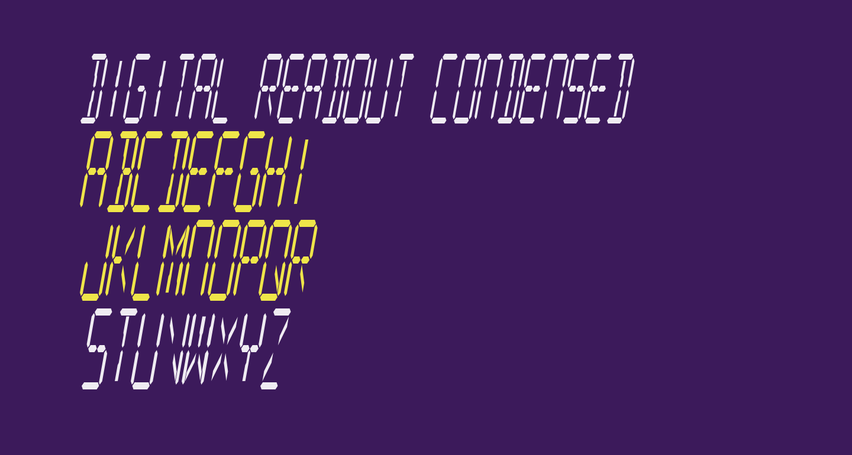 Digital Readout Condensed