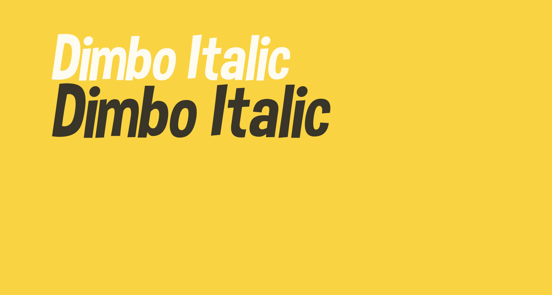 Dimbo Italic