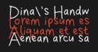 Dina's Handwriting