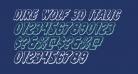 Dire Wolf 3D Italic