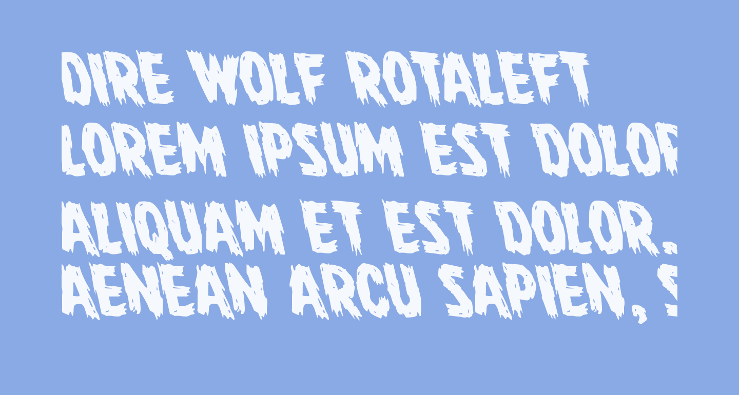 Dire Wolf Rotaleft
