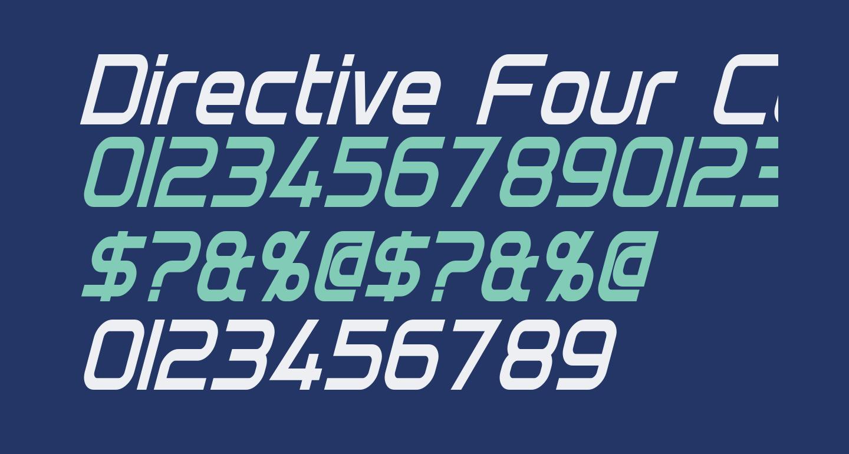 Directive Four Condensed Bold Italic
